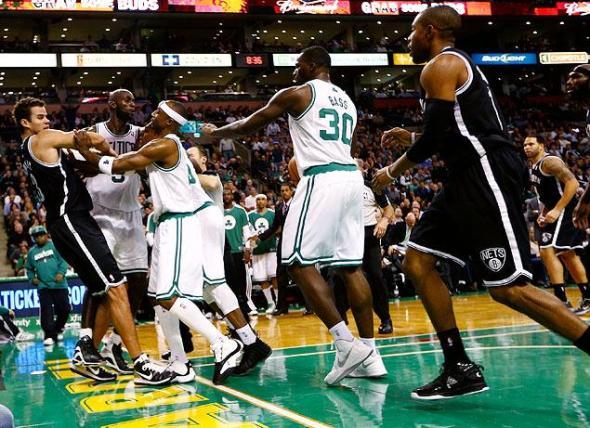 Nets Celtics Fight