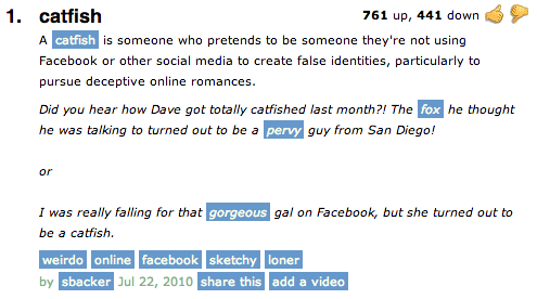 What is catfished mean