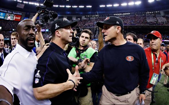 Harbaugh Super Bowl Handshake