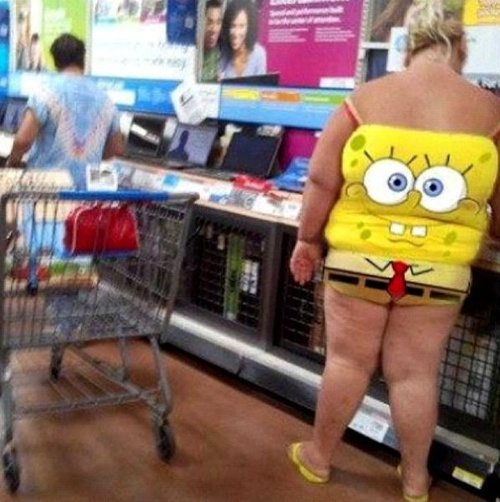 1513MEANWHILE AT WALMART.....SPONGE BOB GOES ELECTRONIC SHOPPING
