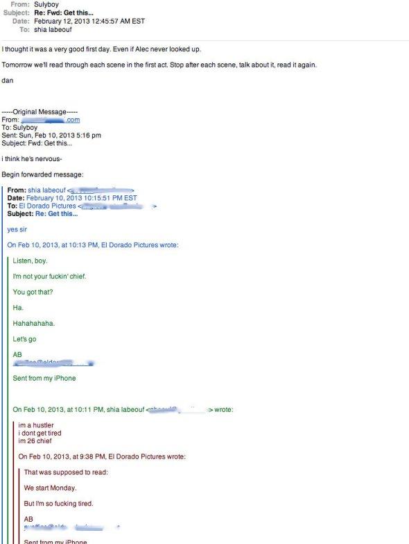 Shia LeBeouf Email 2