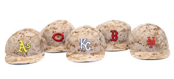 MLB Camo Hats 2013
