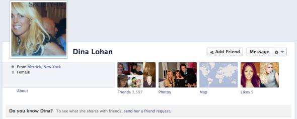 Dina Lohan Facebook
